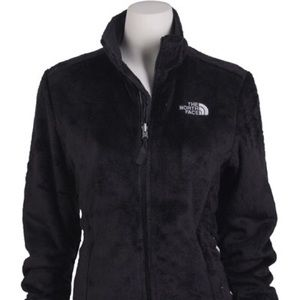 North Face Fuzzy Zip Up Jacket